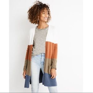 Madewell Kent Striped Cardigan Sweater